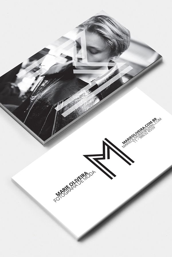 Marie Oliveira Fashion Photography Business Cards Branding Businesscards Visualideny Stationary