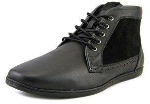 Aldo Roan Men Round Toe Leather Black Boot.