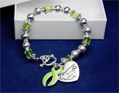 Lime ribbons honor those affected by lymphoma including non-Hodgkins Lymphoma
