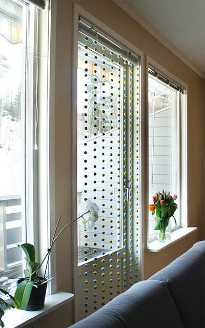 Filzkugeln können auch als Filzkugel Vorhang verwendet werden.
