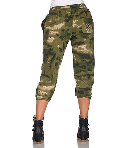 CROOKS AND CASTLES Camouflage sweatpant Inner terry lining 2 side pockets Embroidered CROOKS AND CASTLES logo on back pocket Adjustable waist drawstring