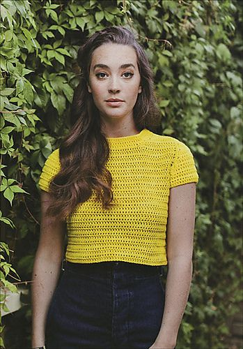 cropped tee crochet pattern wilkinson                                                                                                                                                     More