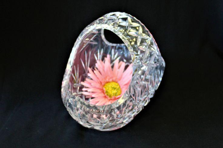 Vintage Mid Century Large 24% Lead Crystal Bohemian Pineapple & Criss Cross Diamond Fan Design, Beautiful Centerpiece, Fruit/Flower Basket by ShabbyCandleAntiques on Etsy