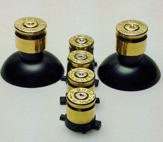 Sony PlayStation 4 Custom Brass Bullet Buttons by firezoneproinc