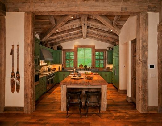 Real life inspiration green cabin kitchen stylish for Western kitchen ideas