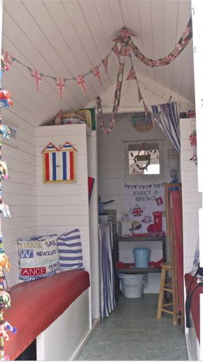 Inside a beach hut