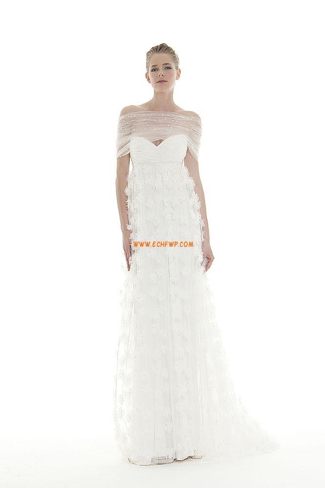 Épaule dégagée Organza Empire Robes de mariée pas cher