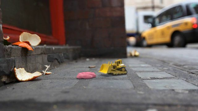 """The CG team at Rushes brought to life the everyday urban world around our feet in """"Tiny Worlds"""", a trilogy of micro-shorts with a humorous take on what might happen to the litter and rubbish on London's streets when we're not looking."""