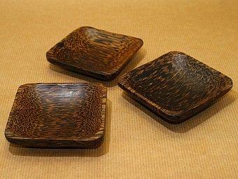 Coconut wood mixing trays at Maya Ethnobotanicals - Ayahuasca, Rainforest Plants, Shamanic Herbs, Incenses, Art & Visions