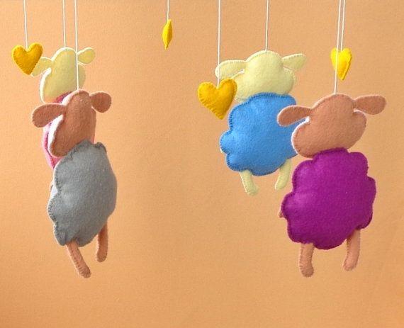 Sheep crib mobile Lamb mobile Baby crib mobile Sheep by ZooToys