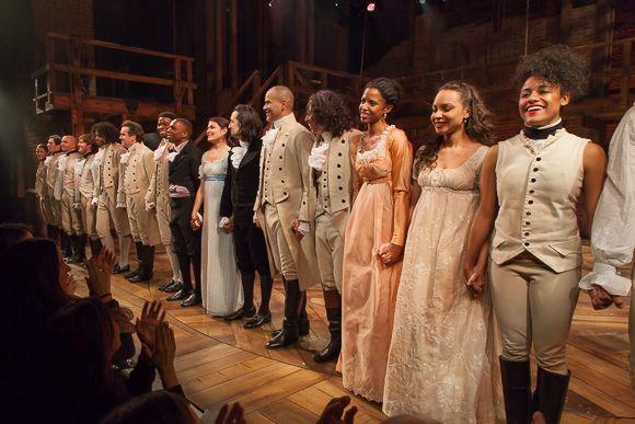Original Broadway cast of Hamilton.
