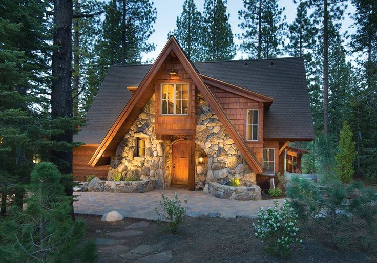 Love the stone front log cabin cozy pinterest the o for Stone and log homes