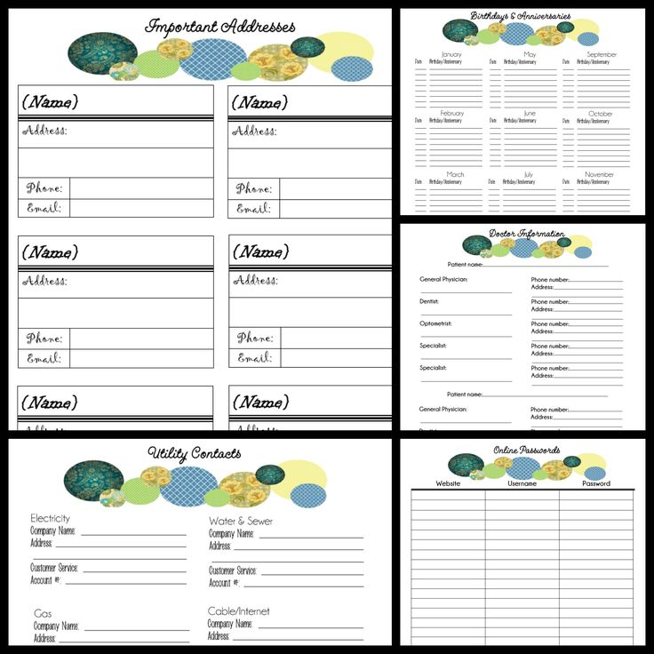2014 Free Binder Printables ~ Pages include: *Schedule: >Calendar ...