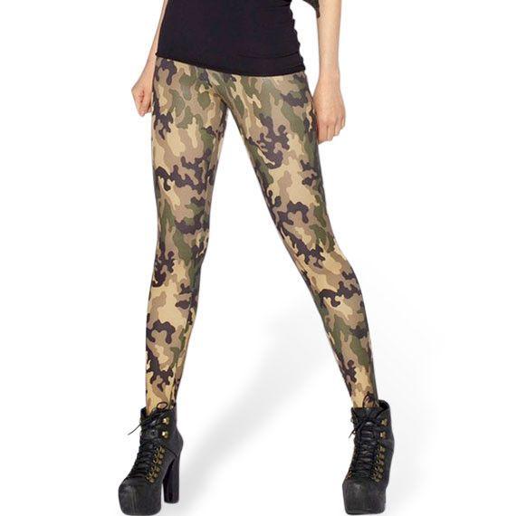 3D new European Sky digital printing camouflage sexy leggings milk silk women fashion autumn slim skinny pants feet trousers