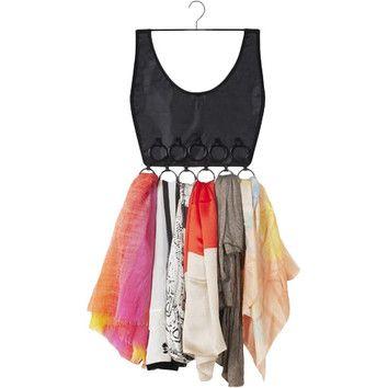 Little Black Dress Scarf Hanger Scarf Dress Boho Dress