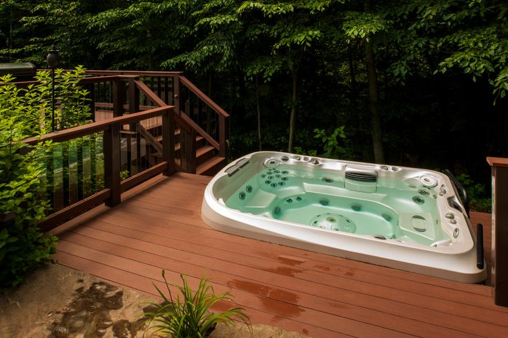 Hot Tub Decks Deck Traditional with Glass Deck Panels Hot