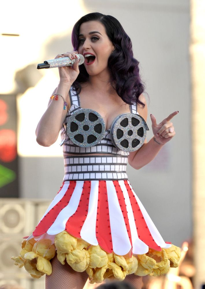 """Katy Perry performs at the premiere of """"Katy Perry: Part of Me"""" at Grauman's Chinese Theatre on Tuesday, June 26, 2012 in Los Angeles."""