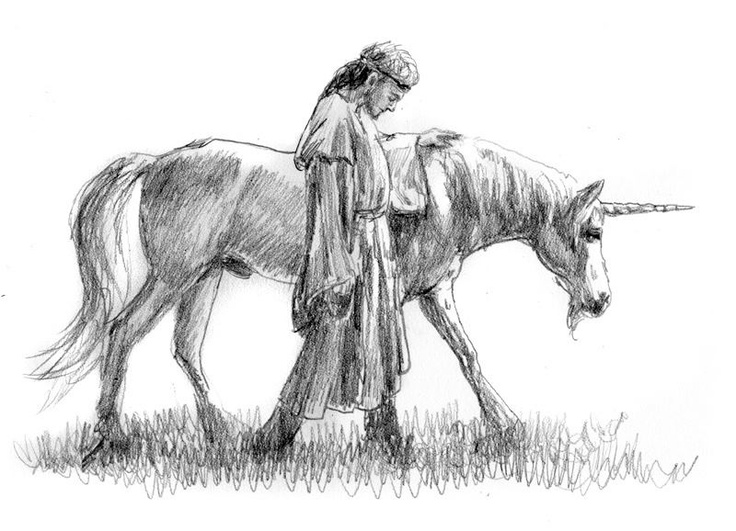 """""""King Tirian & Jewel"""" (from the Chronicles of Narnia), by Jef Murray."""