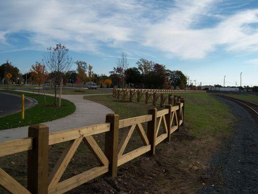 Custom wood farm fence