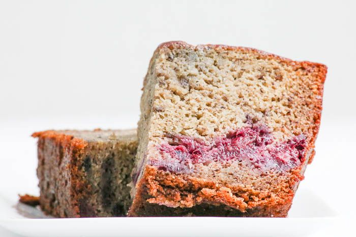 Banana Blackberry Bread combines two tasty ingredients in one simple recipe.  Bake, slice and enjoy!