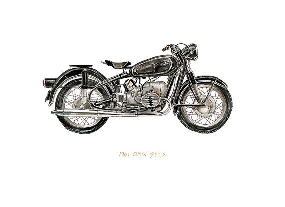 1961 BMW R50/R52 Motorcycle iconic vehicle by FlightsByNumber