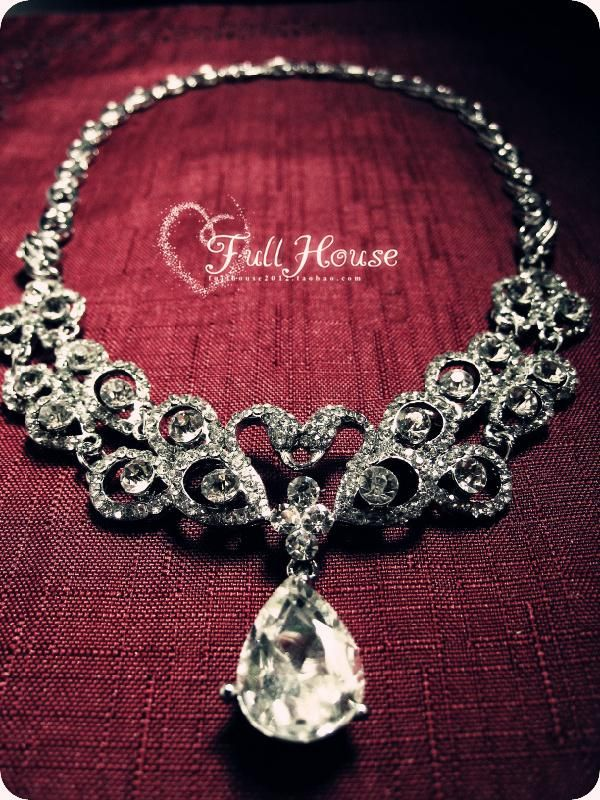 rhinestone necklace bride necklace Banquet jewelry party jewelry - http://zzkko.com/note/18361 $22.95