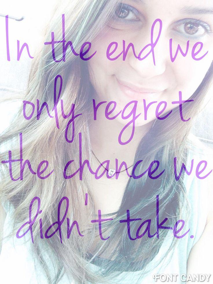 We only regret