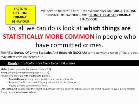 ▶ HSC Legal Studies - Factors affecting criminal behaviour - YouTube