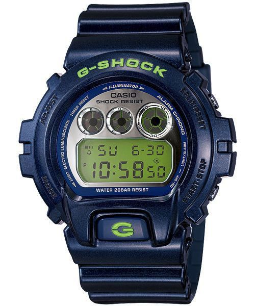 Casio DW6900SB-2 Men's G Shock New Metallic Colors with Mirror Dials