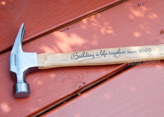Engraved Hammer Personalized with Name, Monogram, or personal message of your choice 16oz  father's day valentine's best man gifts for guys