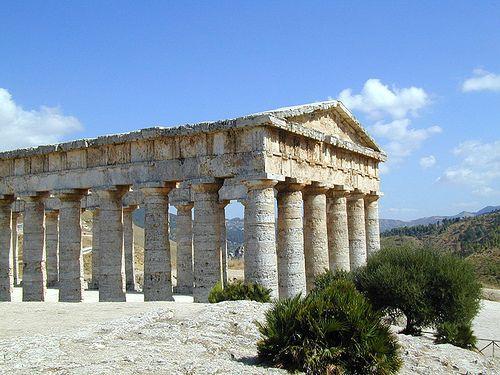 Temple grec de Segeste en Sicile