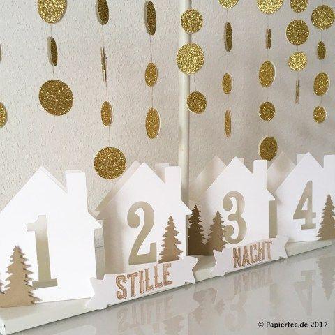 Stampin'Up! Weihnachten, Adventskranz, Adventskalender, Framelits Willkommen zu Hause, Stempelset Wie ein Weihnachtslied