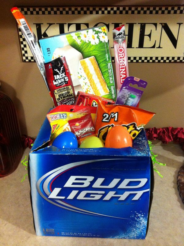 27 best creative easter basket ideas images on pinterest gift diy easter basket for the man in your life with coke negle Image collections