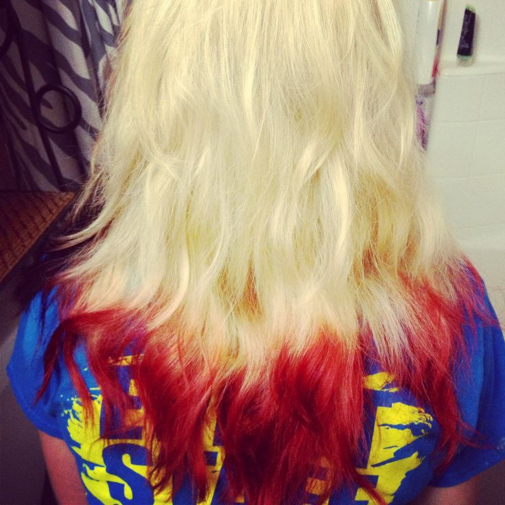 Blonde With Red Tips Future Hair Colors Pinterest