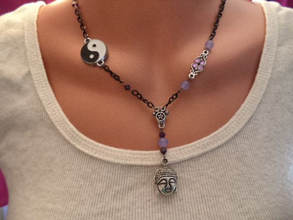 Yin Yang Buddah Necklace by JivanaYoga on Etsy, $26.00