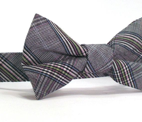 Etsy listing at https://www.etsy.com/listing/175668718/preppy-plaid-bow-tie-dog-collar-in-in