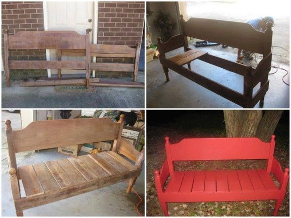 DIY New Bench Using Old Headboards - Find Fun Art Projects to Do at Home and Arts and Crafts Ideas | Find Fun Art Projects to Do at Home and Arts and Crafts Ideas