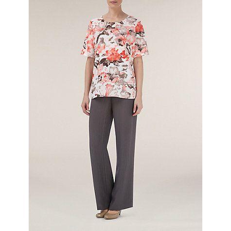 £19 Buy Windsmoor Blurred Floral Top, Coral Online at johnlewis.com