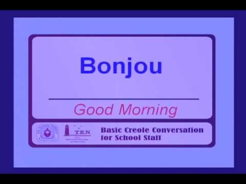 Speak Haitian Creole Lesson 1A.mov