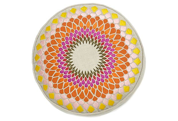 "Fleur de Sun 14"" Cotton Pillow, Multi on OneKingsLane.com"