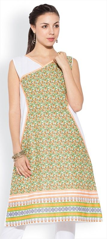 439375 Multicolor color family Cotton Kurtis, Printed Kurtis in Cotton fabric with Printed work .