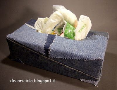 decoriciclo: Riusare la scatola dei guanti in lattice