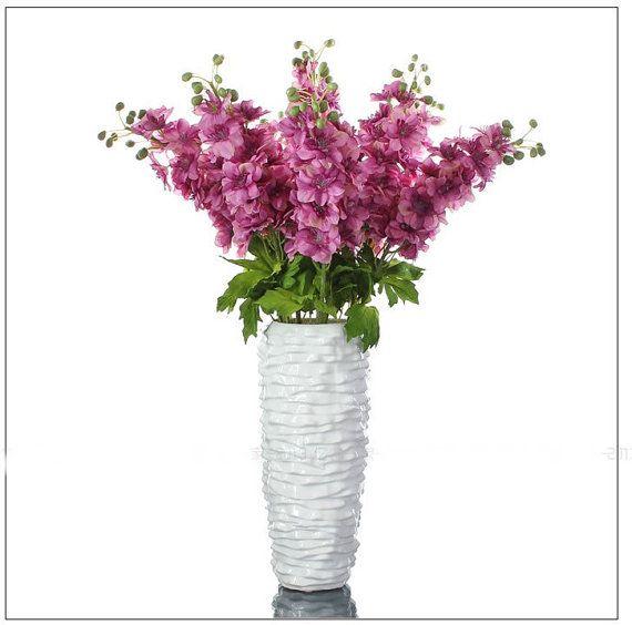 New Arrival Larkspur Wedding Silk Flower by Roseontheway2u on Etsy, $40.99