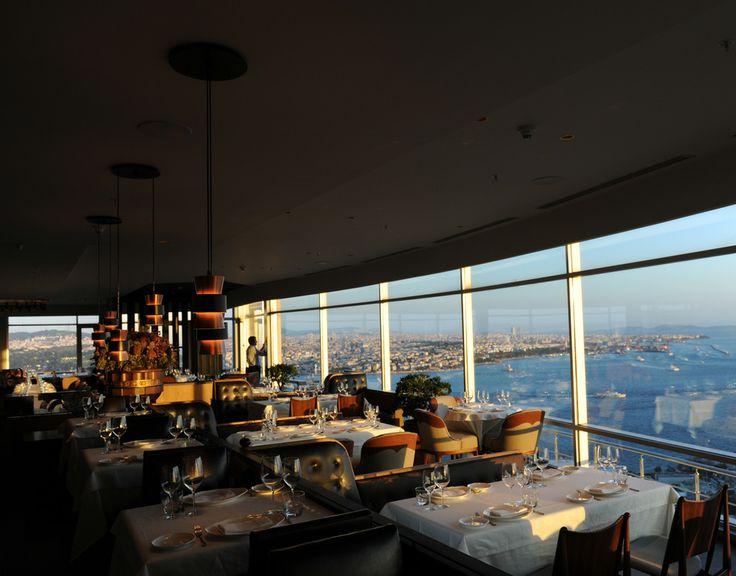 Raika Restaurant view over Istanbul