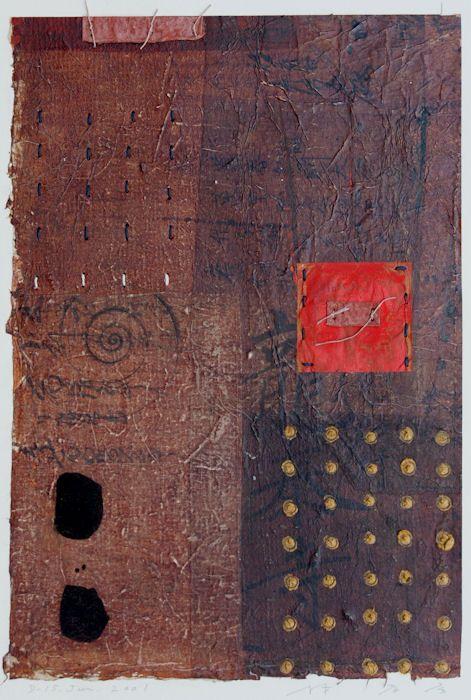 Takahiko Hayashi ~ D-15, 2001 (painting, collage)