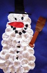 Schneemann aus Wattepads