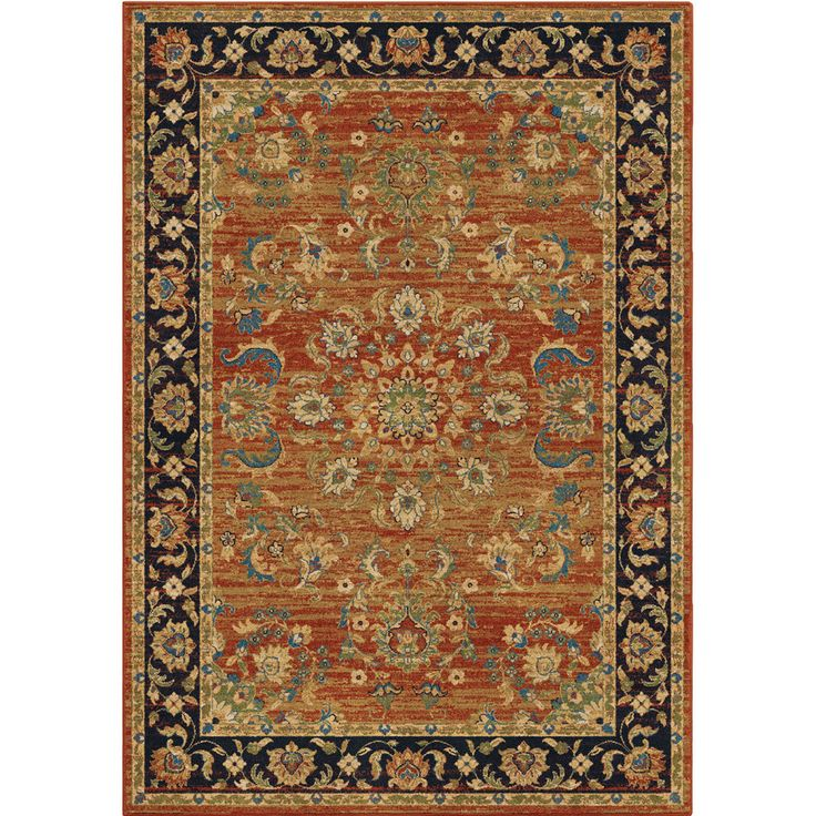 Orian Rugs Twisted Trad Brick Indoor Area Rug Common 8 X 11 Actual 7 83 Ft W X 10 83 Ft L Lowes Com Area Rugs Oriental Area Rugs Orian Rugs