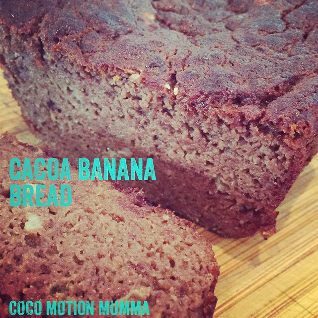 Cacoa banana bread- tasty fresh or toasted
