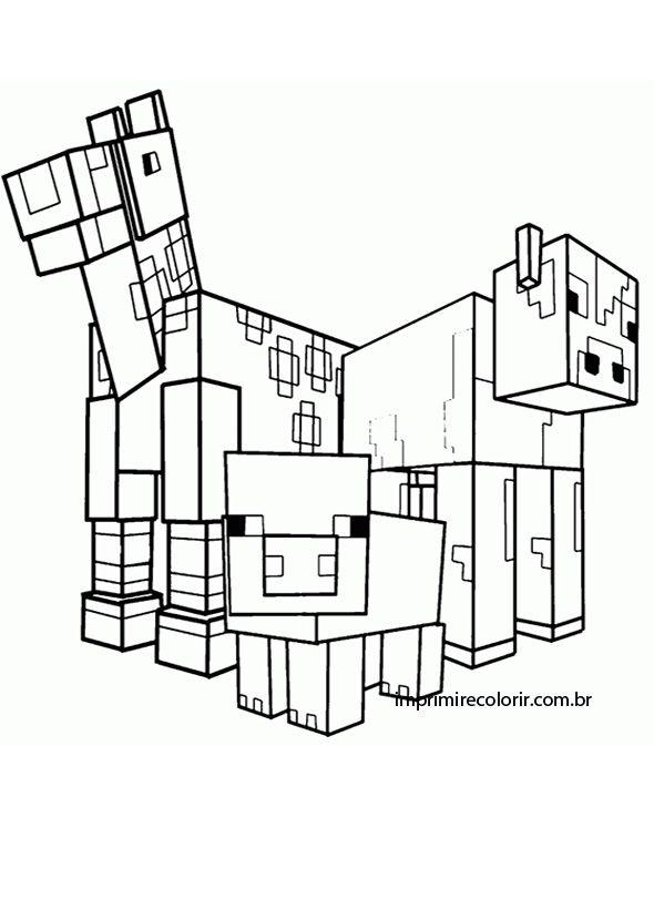 раскраски про миникотика из майнкрафта распечатать #4