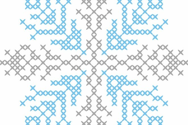 cross stich snowflake design